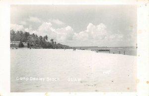 GUAM 1940s WWII Era RPPC Real Photo Postcard Camp Dealey Beach