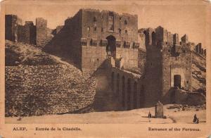 Syria Alep Fortress entrance Postcard