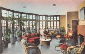 Luray Virginia The Mimslyn Hotel Solarium Antique Postcard J77723