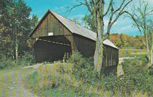 Covered Bridge Old Covered Bridge On Route 4 Between Bridgewater And Woodstoc...