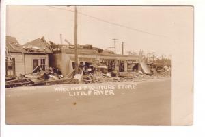 Real Photo, Wrecked Furniture Store, Little River, Used 1926