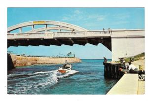 Going Fishing Florida Speedboat Bridge Motorboat Postcard