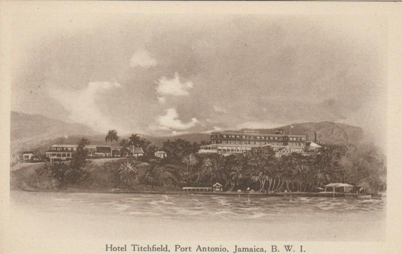 JAMAICA , 1910 ; Hotel Titchfield , PORT ANTONIO