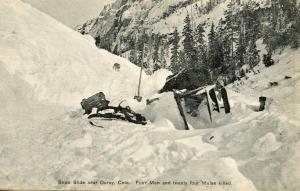 CO - Ouray. Snow Slide (Avalanche) with Fatalities