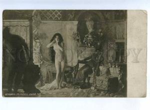 199232 Nude Female SLAVE Harem by CHABANNE Vintage postcard