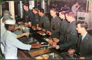 DELAWARE DOVER AIR FORCE BASE CHOW LINE CAFETERIA STYLE MESS HALL CIRCA 1961