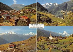 Switzerland Feriendorf Fiesch Wallis Centre de Vacances General view Church
