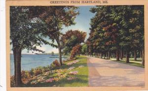 Maine Greetings From Hartland 1949
