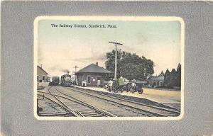 Sandwich MA Railroad Station Train Depot 1912 Postcard