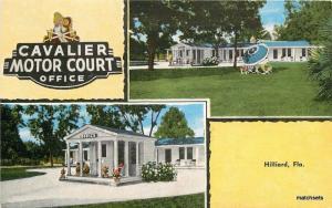 1940s HILLIARD FLORIDA Cavalier Motor Court KROPP Linen postcard 2439
