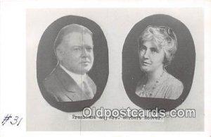 President & Mrs. Herbert Hoover Unused writing on front