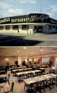 Miami Beach Florida USA Wolfie's Restaurant Old Vintage Antique Postcard Post...