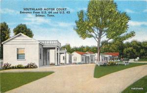 1930s SELMER TENNESSEE Southland Motor Court linen KROPP 2217