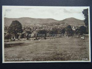 Wales Denbighshire RUTHIN & MOEL FAMMAU c1935 Postcard by Valentine