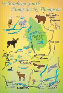 Canada British Columbia Map Of Yellowhead South Along The North Thompson River