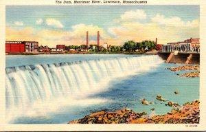 Massachsuetts Lawrence The Dam Merrimac River Curteich Curteich