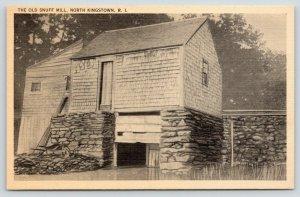 North Kingstown Rhode Island~Old Snuff Mill~Wheelbarrow on Side~1940s