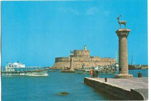 Greece, Rhodes, The entrance of the harbour unused Postcard