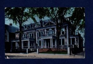 MASSACHUSETTS FALL RIVER Ma Quequechan Club POSTCARD PC