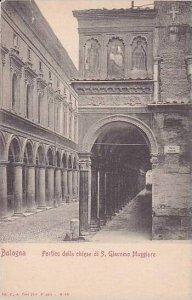 Italy Bologna Portico della chiesa di S Giacomo Maggiore