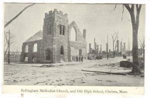 Bellingham Methodist Church, and Old High School, Chelsea, Massachusetts,big ...