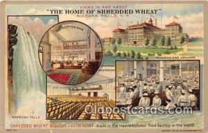 Niagara Falls, NY, USA Postcard Post Card Shredded Wheat Biscuit & Triscuit