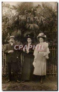 PHOTO CARD Fantasy - Couple - elegant clothing - fashion - hat - Hat - Old Po...