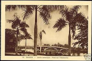 indochina, SAIGON, Botanical Garden, Bridge (1920s)