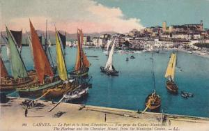 Sailboats, The Harbour And The Chevalier Mount, From The Municipal Casino, Ca...