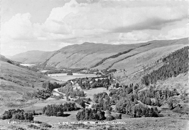 ULLAPOOL SCOTLAND-THE VALLEY OF BROOM PHOTO POSTCARD