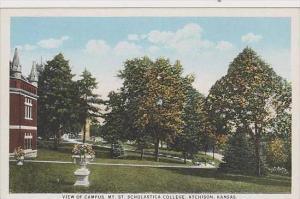 Kansas Atchison View Of Campus Mt St Scholastica College