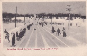 MONTREAL, Quebec, Canada, 1900-1910s; Tobaggan Track On Mount Royal, Canadian...