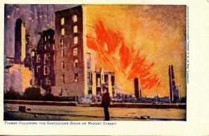 CA - San Francisco. April 1906 Earthquake & Fire. Market Street