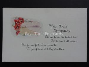 Poppies Postcard: WITH TRUE SYMPATHY - Donation to R.B.L.