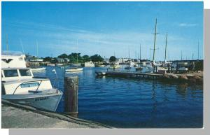 Falmouth, Massachusetts/Mass/MA Postcard, Harbor/Yacht Club, Cape Cod