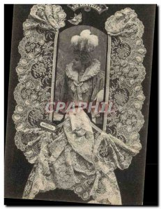 Old Postcard Folklore Lace Dentelliere Brussels