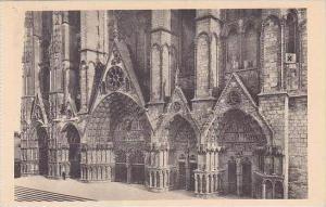 France Bourges Cathedrale de Bourges Portails de la Facade Occidentale