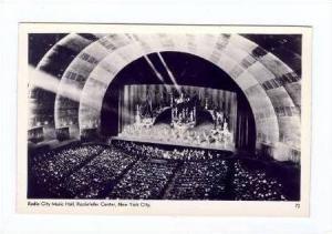 RP  Rockette Dancers on stage, Rockefellar Center, New York City, 30-40s