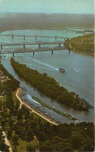 Louisville Kentucky~Ohio River Bridges~Towhead Island~Belle of Louisville Boat