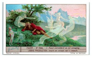 1932 Faust is Distraught & Remorseful, Faust I, Liebig Belgian Trade Card *VT32B