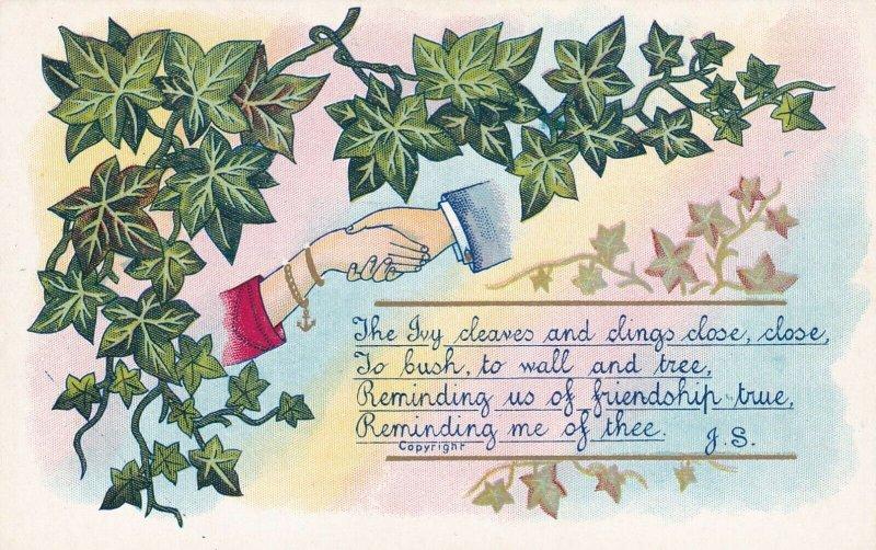HANDS, 1900-10s; Ivy Vines, Rhyme, Gold detail