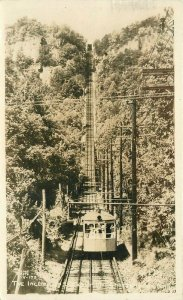 Chattanooga Tennessee Lookout Mountain Incline Railroad RPPC Photo Postcard 4115