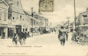 curacao, D.W.I., WILLEMSTAD, Otrabanda, Calle Ancha (1900) Stamp
