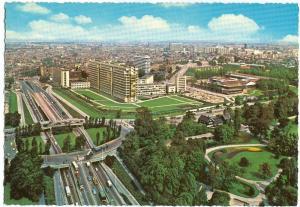Rotterdam, Panorama met Dijkzigt Ziekenhuis, 1960s Postcard