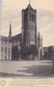 Ypres, The ancient Cathedral of St. Martin, West Flanders, Belgium, 10-20s