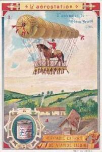 Liebeig Vintage Trade Card Balloons 1900 No 3 L'ascension de Tessu-Brissy 1786