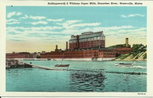 Hollingsworth And Whitney Paper Mills, Kennebec River, Waterville, Maine