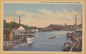 Kenosha, WIS., Harbor scene Looking south, Fishing boats & pleasure craft-