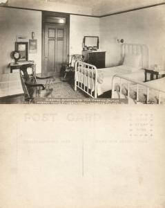 ELIZABETHTOWN LANCASTER MASONIC HOMES SLEEPING ROOM ANTIQUE PHOTO POSTCARD RPPC