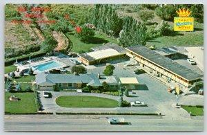 Montrose Colorado~Trumbo's Red Arrow Motel Birdseye~Best Western~1960s Postcard